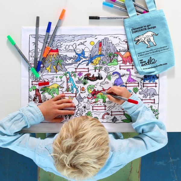 colour-in dinosaurs