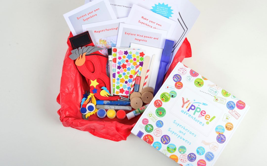 Superheroes and Superpowers activity box