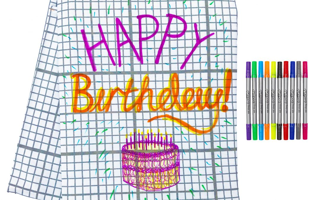 Doodle Colour In Tablecloth
