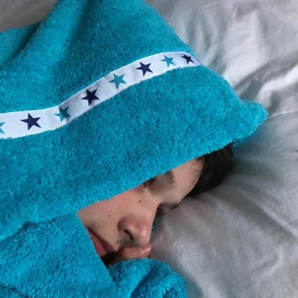 jumbo hooded towel turquoise