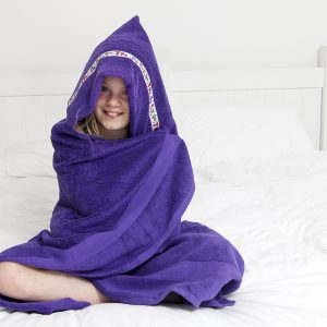 jumbo hooded towel purple