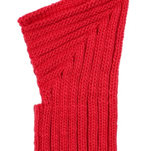 knitted balaclava - red