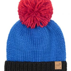 knitted bobble hat - red