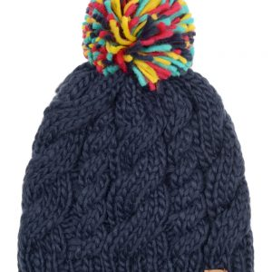 knitted bobble hat - multicoloured