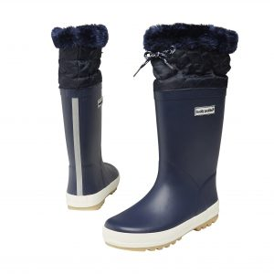 fleece lined wellies -blue