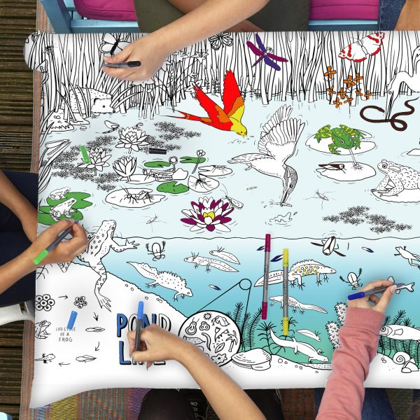 educational tablecloth to colour