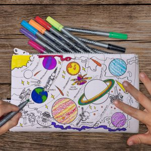 colour in space pencil case