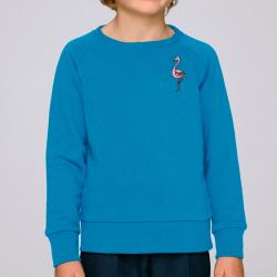 Kids Cotton Flamingo Sweatshirt