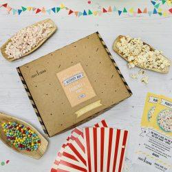 Gooey popcorn party activity box