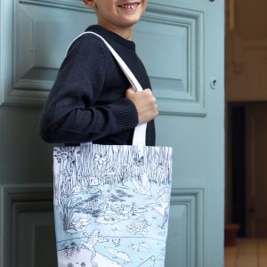 colour-in tote bag