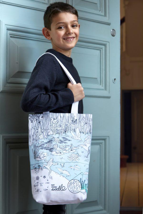 colour-in tote bag