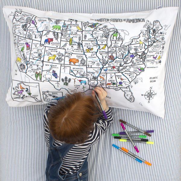 US Map pillowcase