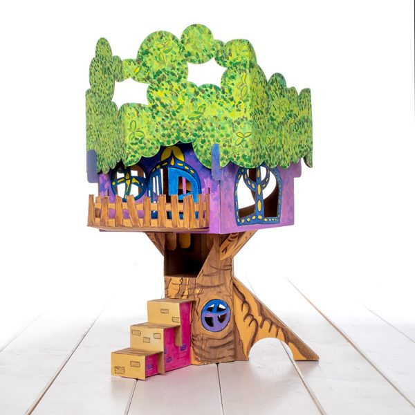 build and colour tree house