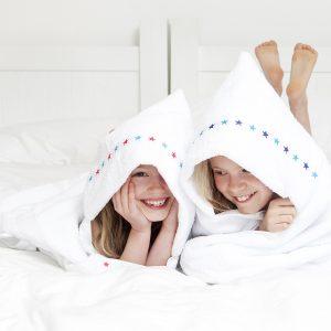 jumbo hooded towel white