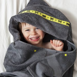 standard hooded towel grey