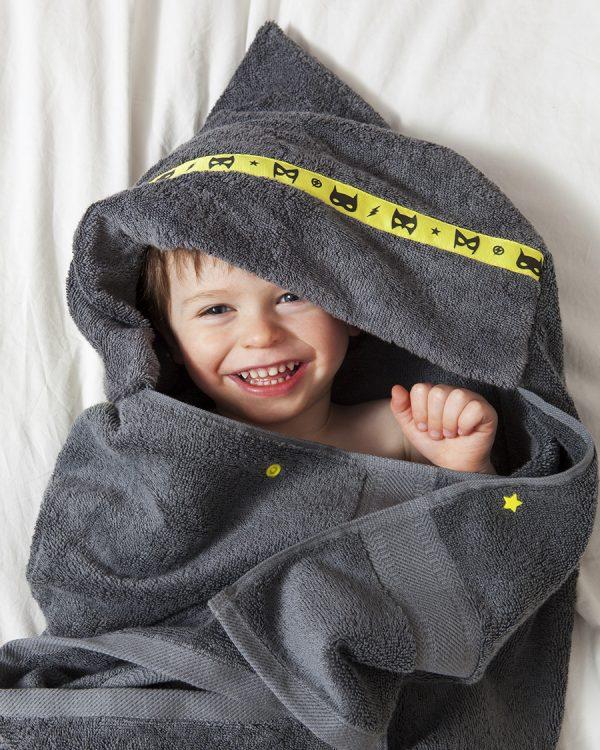 standard hooded towel grey