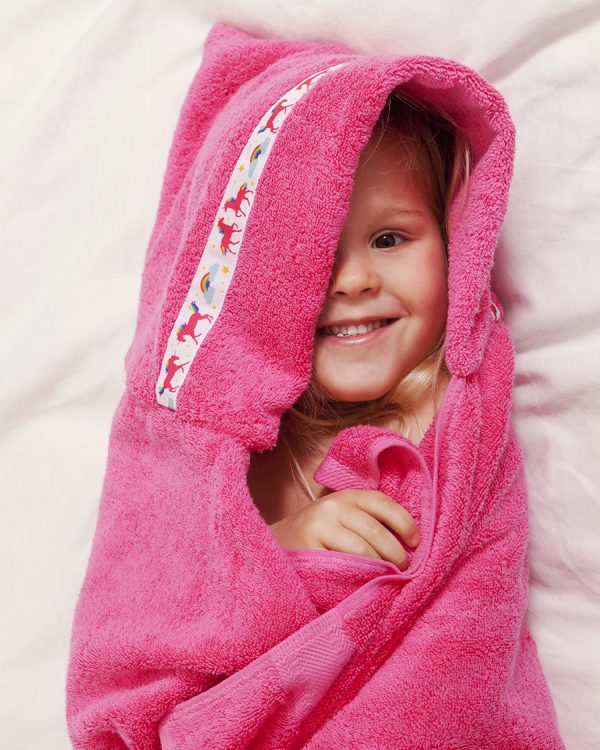 standard hooded towel pink