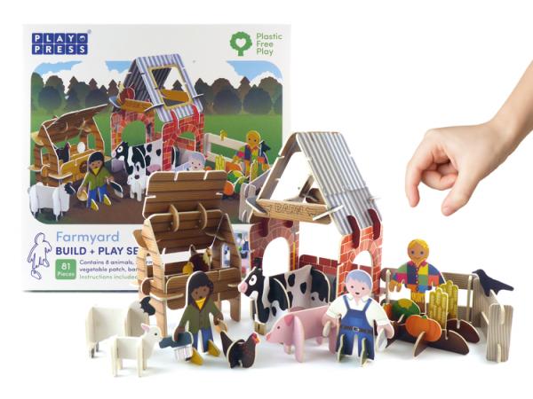 farmyard eco friendly toy playset