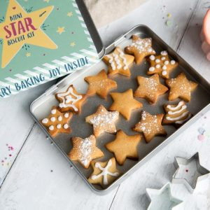Mini star biscuit kit tin