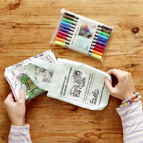on the go colouring activity