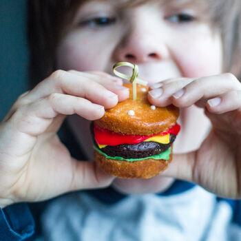 burger cupcake bake and craft kit