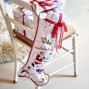 colour in christmas stocking